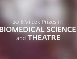 2016 Vilcek Prizes in Biomedical Science and Theatre